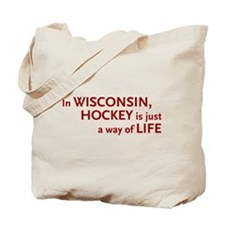 Wisconsin Hockey Tote Bag