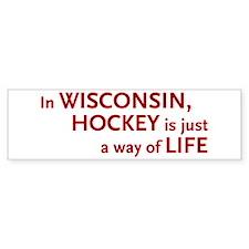 Wisconsin Hockey Bumper Bumper Sticker