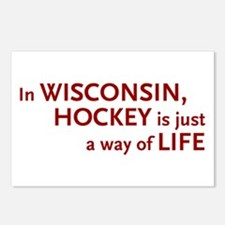 Wisconsin Hockey Postcards (Package of 8)