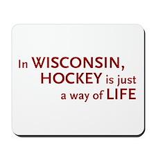 Wisconsin Hockey Mousepad