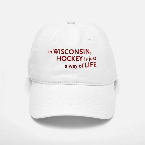Wisconsin Hockey Baseball Baseball Cap