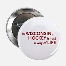 Wisconsin Hockey Button