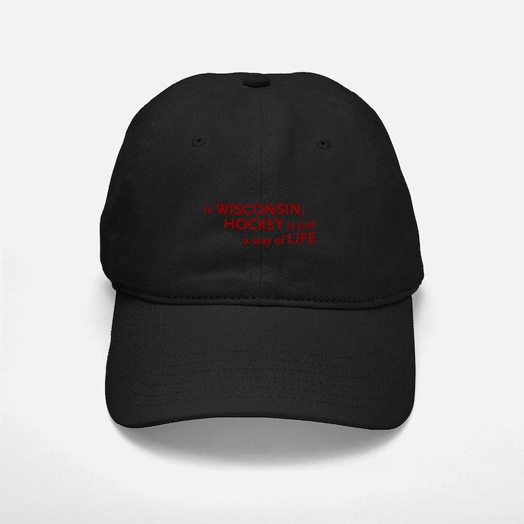 Wisconsin Hockey Baseball Hat