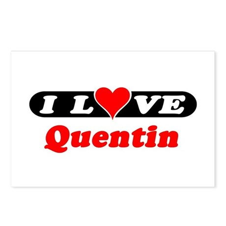 I Love Quentin Postcards (Package of 8)