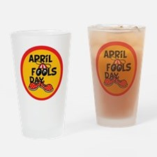 April Fools Day Beanie Boy Drinking Glass