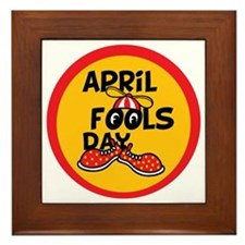 April Fools Day Beanie Boy Framed Tile
