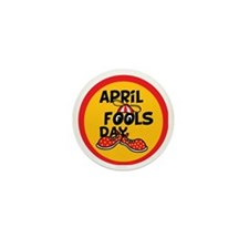 April Fools Day Beanie Boy Mini Button