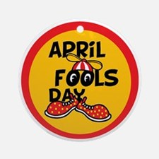 April Fools Day Beanie Boy Round Ornament