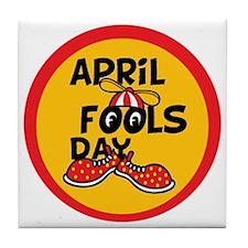 April Fools Day Beanie Boy Tile Coaster