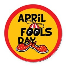 April Fools Day Beanie Boy Round Car Magnet