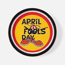 April Fools Day Beanie Boy Wall Clock