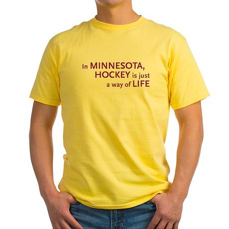 Minnesota Hockey Yellow T-Shirt