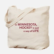 Minnesota Hockey Tote Bag