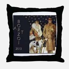 BorzoiCalendar2013 Throw Pillow