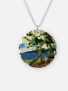 Paul Gauguin Beach Scene Necklace