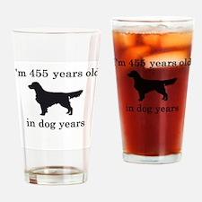 65 birthday dog years golden retriever Drinking Gl