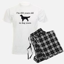 65 birthday dog years golden retriever Pajamas