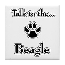 Beagle Talk Tile Coaster
