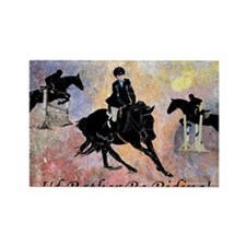 Id Rather Be Riding! Horse Rectangle Magnet