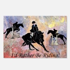Id Rather Be Riding! Hors Postcards (Package of 8)