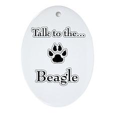 Beagle Talk Oval Ornament
