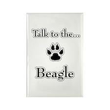 Beagle Talk Rectangle Magnet
