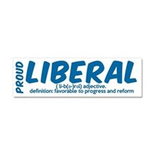 definition of liberal Car Magnet 10 x 3