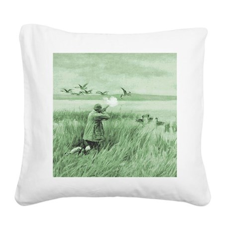 Hunting Wild Geese Square Canvas Pillow