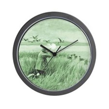 Hunting Wild Geese Wall Clock