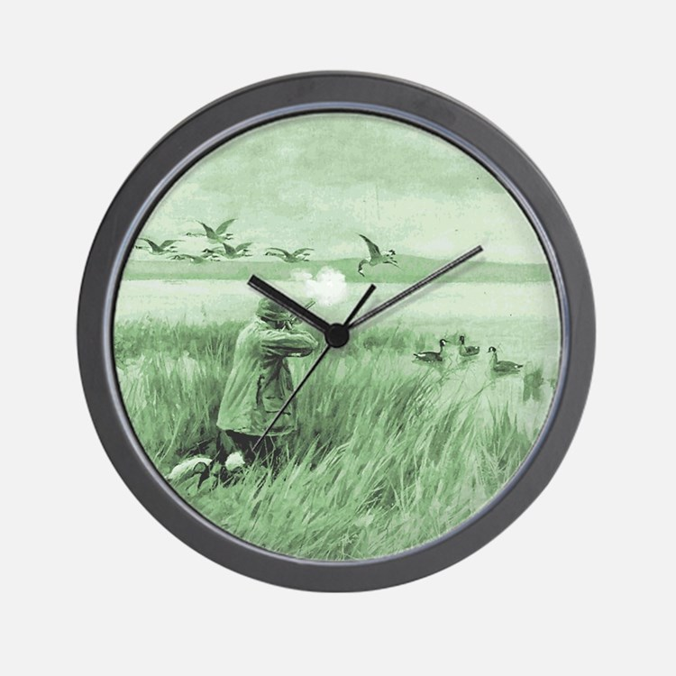 Hunting Wild Geese Wall Clock