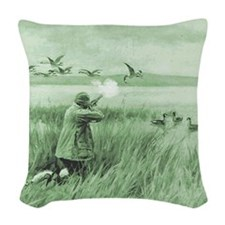 Hunting Wild Geese Woven Throw Pillow