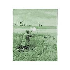Hunting Wild Geese Throw Blanket