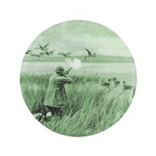 "Hunting Wild Geese 3.5"" Button"