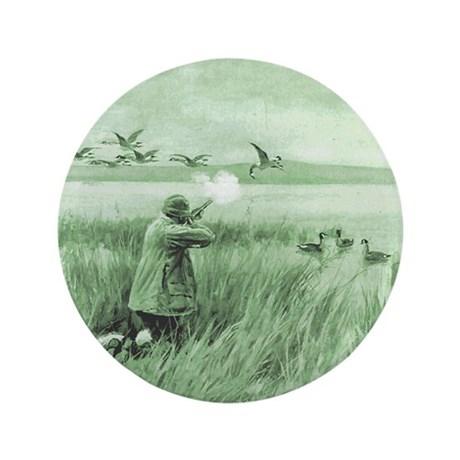"""Hunting Wild Geese 3.5"""" Button"""