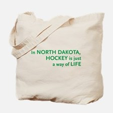 North Dakota Hockey Tote Bag