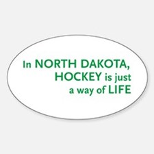 North Dakota Hockey Oval Decal