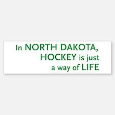 North Dakota Hockey Bumper Bumper Bumper Sticker