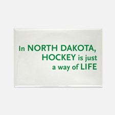 North Dakota Hockey Rectangle Magnet