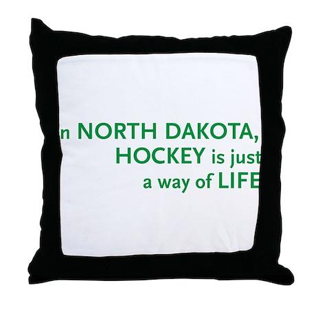 North Dakota Hockey Throw Pillow