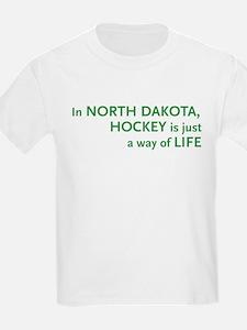 North Dakota Hockey Kids T-Shirt