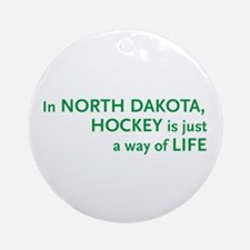North Dakota Hockey Ornament (Round)