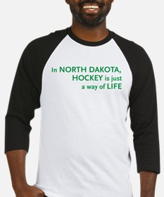 North Dakota Hockey Baseball Jersey