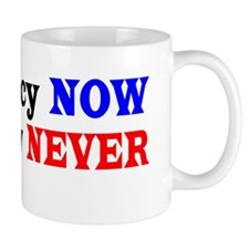 Democracy NOW Plutocracy NEVER Mug