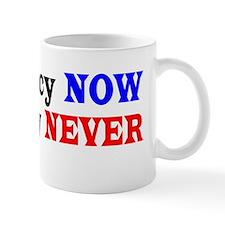 Democracy NOW Plutocracy NEVER Small Mug