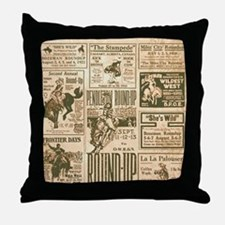 Vintage Rodeo Round-Up Throw Pillow