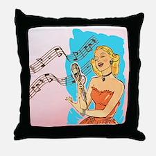 Shower Singer Throw Pillow