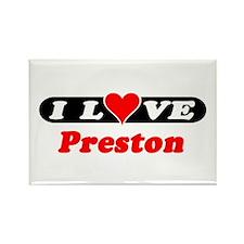 I Love Preston Rectangle Magnet