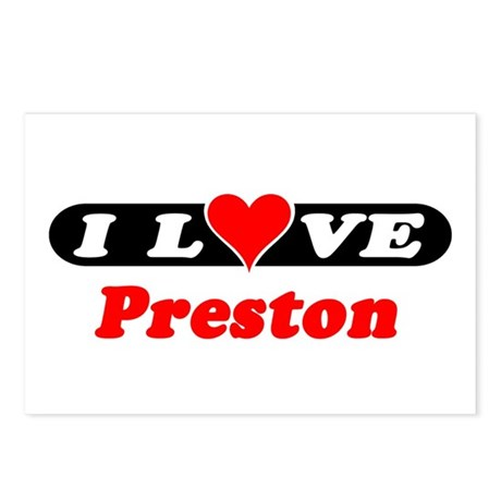 I Love Preston Postcards (Package of 8)