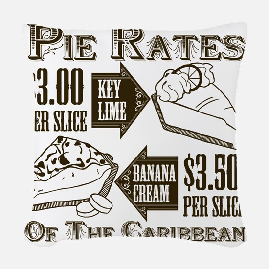 Pie Rates of the Caribbean Woven Throw Pillow