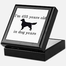 65 dog years golden retriever 2 Keepsake Box